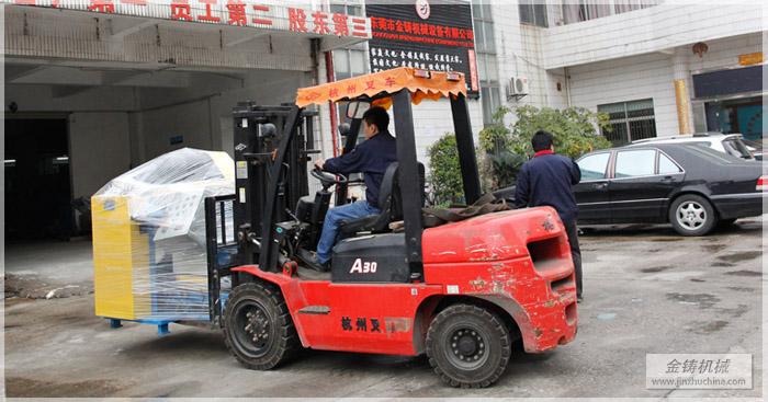 四磨头自动拉丝机准备转车